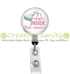 Nurse Retractable ID Badge Reel It's What's by CreativeSanity, $7.50