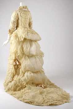 Dress 1870, American, Made of cotton