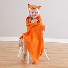 How Do You Zoo Hooded Towel (Fox) in New Bath   The Land of Nod     The ultimate bath time fun gift for kids