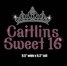 Reserved - 4 Caitlin's Sweet 16 and 4 NYC 2015 iron on rhinestone transfers by MyFairysCloset on Etsy https://www.etsy.com/transaction/1041812330