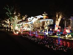 Candy Cane Lane Christmas Decorations Candy Cain Lane California  Candy Cane & Lollipop Lane Drive And