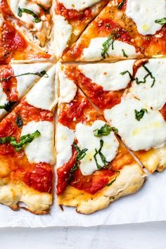 Pizza Recipe No Yeast, No Yeast Pizza Dough, Fresh Mozzarella Pizza Recipe, Healthy Pizza Dough, Dough Recipe, Quiches, Skinny Recipes, Healthy Recipes, Skinny Meals