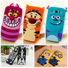 3D Cartoon Dog Zebra Monsters Tiger Sulley Alice Minions Soft Silicone Case For Samsung Galaxy A3 A5 A7 Back Cover For Samsung