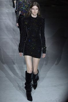 Nice Runway #fashion review #PFW Fall17: Saint Laurent just won't let go of bad 80's style - the good, the bad, the ugly... LUXE | STYLE Check more at http://fashionie.top/pin/20288/