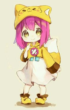 Dibujos Anime Chibi, Cute Anime Chibi, Cute Anime Pics, Kawaii Chibi, Kawaii Anime Girl, Anime Art Girl, Anime Oc, Kawaii Drawings, Cute Drawings