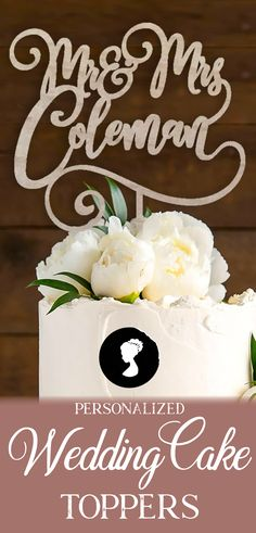 Rustic Wedding Cake Topper, Bride and Groom Wedding Cake Topper, Personalized Wedding Cake Topper, Custom Cake Topper Rustic Wedding Cake Toppers, Personalized Wedding Cake Toppers, Wedding Cakes, Baltic Birch, Natural Materials, Characters, Names, Make It Yourself, Texture