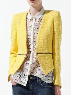 Zara yellow blazer