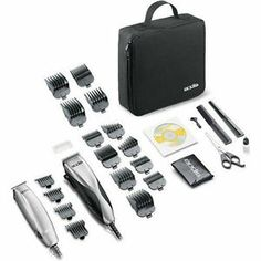 Clipper and Trimmer Combo Kit Hair Shaving Cutting Grooming Tool Barber 27 Pcs Andis Clippers, Hair Clippers & Trimmers, Barber Clippers, Grey Hair Treatment, Premature Grey Hair, Professional Haircut, Barber Razor, How To Cut Your Own Hair, Thing 1