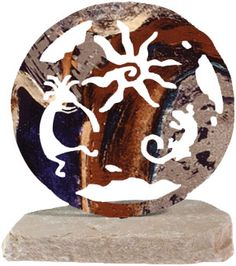 If you are looking for rock art, we have new products that you will definitely love. Southwestern Home Decor, Southwestern Decorating, Home Decor Sculptures, Wall Sculptures, Laser Art, Rock Art, Painted Rocks, Accent Decor, Natural Stones