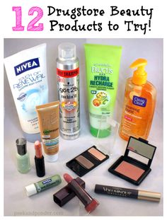 12 Drugstore Beauty Products to Try http://beautyproducts-inindia.blogspot.com/