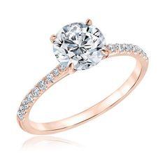 Forevermark Round Diamond Rose Gold Engagement Ring 1 3/4ctw - Item 19572700 | REEDS Jewelers