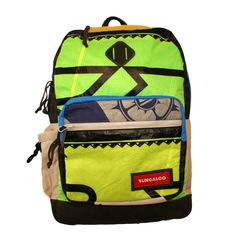 Bungaloo Trippin Backpack - Upcycled Kite Bag