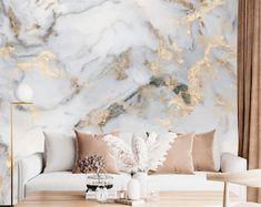 Marble Wallpaper | Etsy