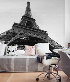 Eiffel Tower Photography in an oversize sticker poster. Just peel off the sheets and apply to your wall to get this stunning look! Our Peel and Stick products are repositionable and will not damage your walls when you remove them.