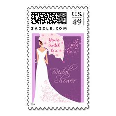 Bridal Shower Invitation Stamp - Lavender