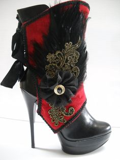 love the red and black steampunk shoes Costume Steampunk, Steampunk Shoes, Gothic Steampunk, Steampunk Clothing, Steampunk Fashion, Fashion Mode, Look Fashion, Fashion Shoes, Girl Fashion