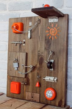 Lock Board XL Toddler Busy Board 16 elements by LockBoard on Etsy
