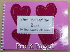 Class book made using Valentine cards the teacher receives from students via   www.pre-kpages.com/valentine/