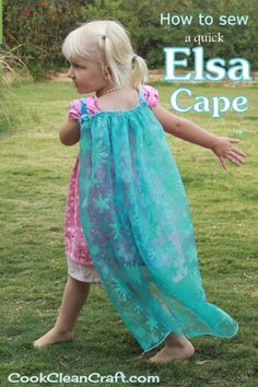 My daughter loves Frozen and all things Elsa. For her birthday party, I decided to sew an Elsa cape for each of the girls. Quick and easy, it was so cute to see all the Elsa's running around.