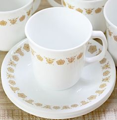 Butterfly Gold Corning/Corelle Collection. This is the dinnerware we had when I was a kid!