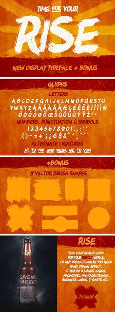 RISE Typeface + Bonus Download: https://pixelbuddha.net/freebie/rise-typeface-bonus-free