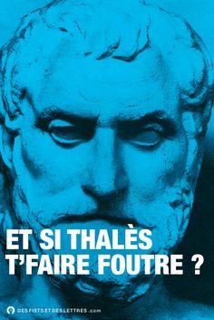 """tee-shirt Des fists et des lettres : """"Et si Thalès te faire foutre?"""""""