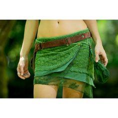 Yara Skirt (Green) Festival Gypsy Bohemian Skirt Hippie Lace Crochet... ($69) ❤ liked on Polyvore featuring skirts, lace midi skirt, boho skirt, mid calf skirts, hippie wrap skirt and hippie skirt
