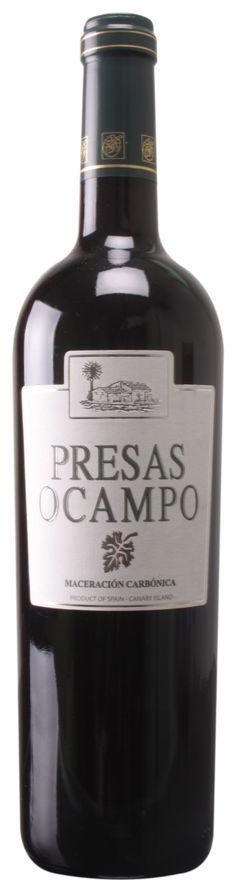 Presas Ocampo Tinto Maceración Carbónica 2012 (D.O. Tacoronte-Acentejo). Medalla de Oro Alhóndiga 2013. #VinosdeTenerife