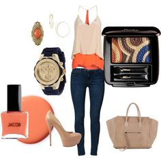Orange you glad.., created by gn1ngrao on Polyvore