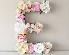 Floral Letter 19 24 Large Flower Letter Floral by BegoniaRoseCo