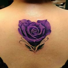 Cover Up Tattoos Colorful Rose Tattoos, Purple Heart Tattoos, Rose Heart Tattoo, Rose Tattoo Forearm, Girly Tattoos, Mini Tattoos, Body Art Tattoos, 3d Flower Tattoos, 3 Roses Tattoo