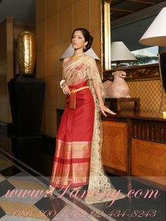 Thai Traditional Outfit #wedding $1200 USD Dress