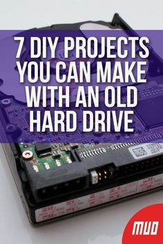 7 DIY Projects You Can Make With an Old Hard Drive --- Don't throw out that old hard drive from your computer! Yes, that's even if you've got a fancy new solid state drive (SSD) or if your hard disk drive (HDD) finally gave up. Whether it's functional or Electronics Projects, Computer Projects, Electrical Projects, Arduino Projects, Diy Projects, Diy Electronic Projects, Electronics Basics, Electrical Wiring, Electrical Engineering