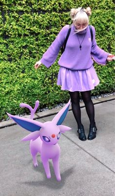 """""""Starting a project with my friend where we create streetwear looks based on Pokémon and take pictures with the new AR camera Stay tuned for more looks! Pokemon Go, Pokemon Buddy, Pokemon In Real Life, Ghost Pokemon, Cute Pokemon, Pikachu, Mario Toys, Umbreon And Espeon, Pokemon Breeds"""