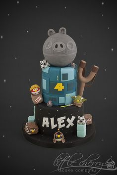 Star War Angry Birds Cake * starting cake decorating class next week so I can make this for my Alex