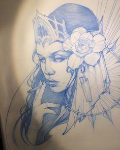 Новости Tattoo Sketches, Tattoo Drawings, Body Art Tattoos, Drawing Sketches, Art Drawings, Graffiti Tattoo, Tattoo Studio, Neo Tattoo, Girl Face Drawing