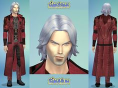 Dante from Devil May Cry by Sim4fun at Sims Fans via Sims 4 Updates
