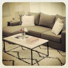 My living room #mywestelm #chevron #soukrug