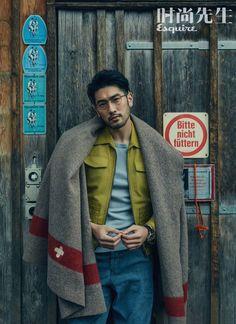 "godfreygaodailys: ""Godfrey Gao featured in Esquire China magazine! Korean Male Models, Asian Male Model, Male Models Poses, Male Poses, Korean Model, Beautiful Boys, Gorgeous Men, Beautiful People, Dandy"