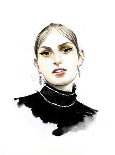 Zoe Huxford for Prada spring 2015