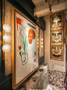 Agency Substance imagined the design for this new and incredible restaurant in Hong Kong called Bibo. Including pieces of art and references to street art. Restaurant Door, Restaurant Streets, Restaurant Lounge, Restaurant Design, Hong Kong, Famous Street Artists, Home Renovation Costs, Apartment Painting, Design Café