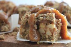 Salted Caramel Apple Crumb Bars - vegan