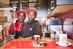 Meet the team from Vida Camps Bay, Ronald and Ntumase. They will pour your coffee with a smile and hand you a cacao chocolate. Cacao Chocolate, Meet The Team, Camps, Smoothies, Smile, Coffee, Campsis, Kaffee, Cup Of Coffee
