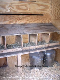 13 things we've learned about chicken coops. Roosting boxes: Slanted tops so they don't roost on top, 1: 12x12x12 box per 4 chickens, front edge to sit on, dark spot