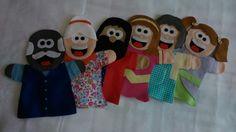 Fantoches (Vovô, Vovó, Papai, Mamãe, FIlho e Filha).