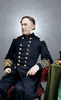 Admiral David Farragut Union Navy Civil War - Visit to grab an amazing super hero shirt now on sale! Us Navy Shirts, Civil War Art, Rear Admiral, Navy Sailor, America Civil War, Civil War Photos, United States Navy, Military History, Historical Photos