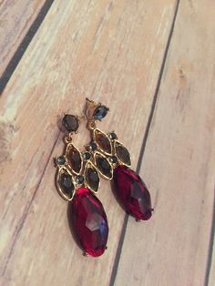 Ruby Chandilear Earrings