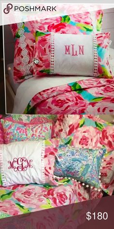 Lilly Pulitzer Bedding SUPER cute!! Twin size!! Only used 1/2 a semester. Perfect for a dorm room! They no longer make this so get it while you can! Comes with on sham cover! Lilly Pulitzer Other