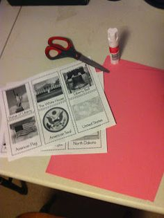 American Symbols Flashcards. 1st or 2nd grade social studies unit. Also very easy to create.