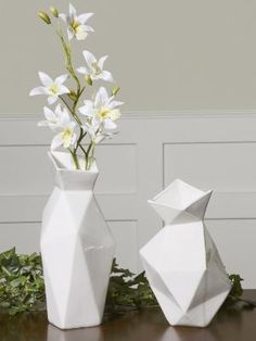 Gloss White Ceramic Vases